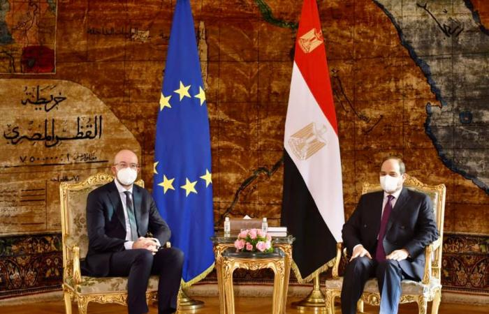 Charles Michel meets President El Sisi of Egypt