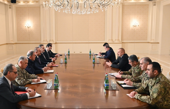 Turkish foreign, defence and intelligence heads in Baku