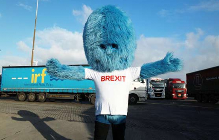Drivers at Rotterdam Port told to beware of Brexit Monster
