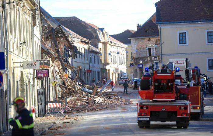 Major earthquake in Croatia