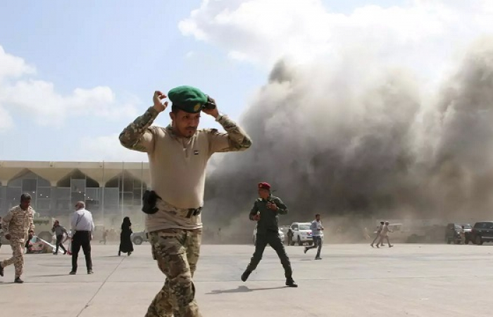 Deadly attack on Aden airport