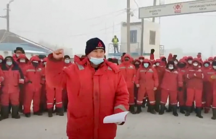 Oil workers in Chinese owned company in Kazakhstan go on strike to complain about low wages