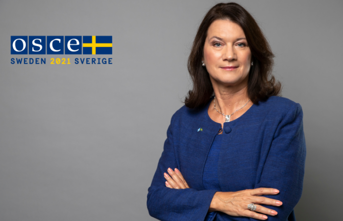 Sweden takes over chairmanship of the OSCE