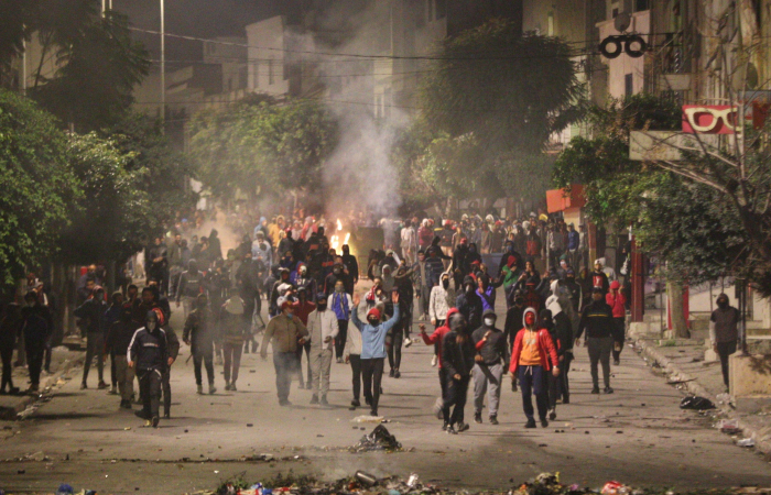 Protests erupt across Tunisia