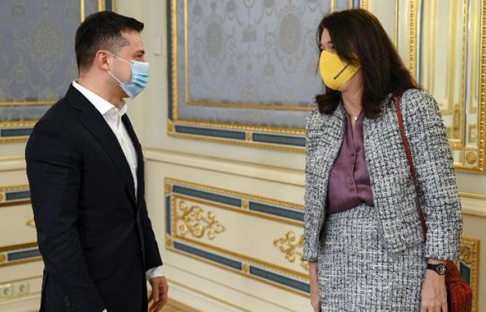 Ann Linde in talks with Zelenski in Kiev