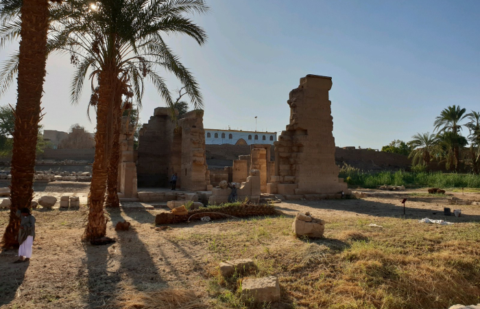 Chinese, Egyptian archaeologists help restore Montu Temple in Luxor