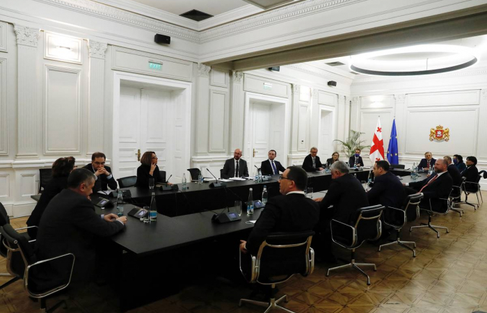"""Charles Michel: """"The political dialogue in Georgia is re-launched tonight"""""""