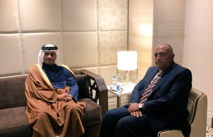 Qatari foreign minister in Cairo after three years