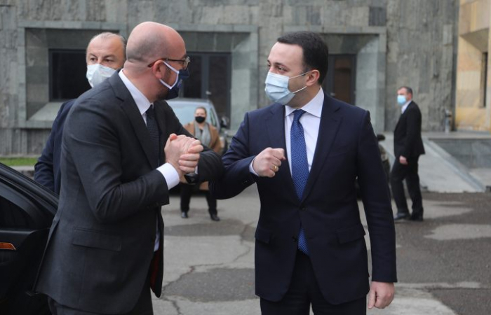 """Charles Michel calls parties to """"step up their efforts"""" to end to Georgia's political crisis"""