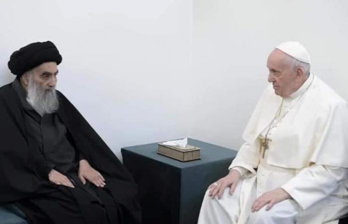 Pope Francis in historic meeting with Grand Ayatollah al-Sistani in Najaf