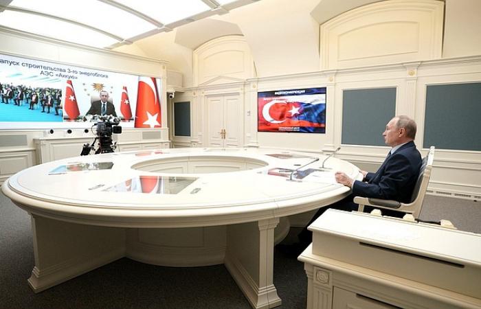 Putin and Erdogan preside over the inauguration of phase 3 of Akkuyu NPP in Turkey's Mersin