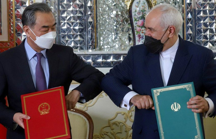 Russian newspaper says the new Iran-China agreement also covers sensitive fields such as defense and intelligence