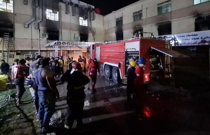 Deadly fire kills dozens at a hospital in Baghdad