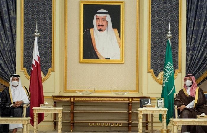 Emir of Qatar in talks in Saudi Arabia