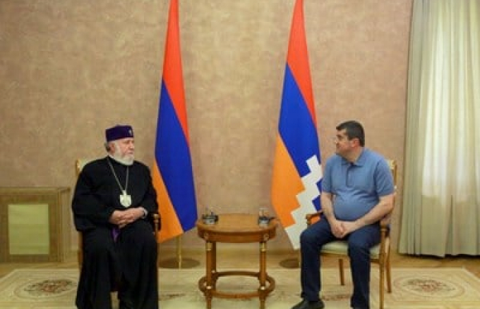 Armenian Catholicos first visit to Stepanakert after the 44 day war