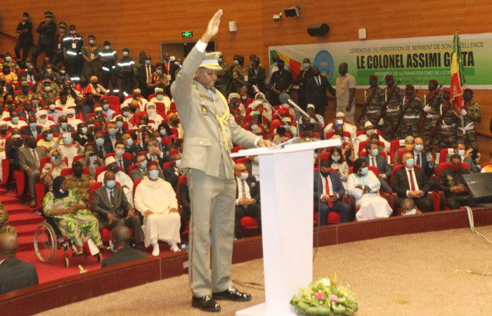 Colonel Goïta sworn in as the president of Mali's transitional government