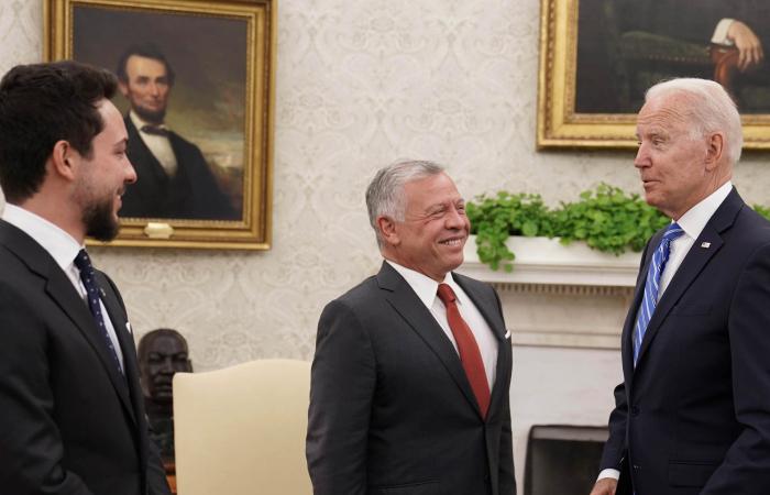 "Biden greets King Abdullah of Jordan as a ""good, loyal, decent friend"""