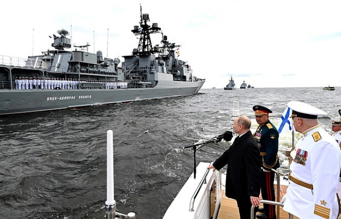 Putin says Russian navy is capable of detecting any enemy and inflict an inevitable blow on him, if necessary