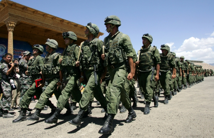 Russia conducts military exercises with Central Asian states near Afghan border