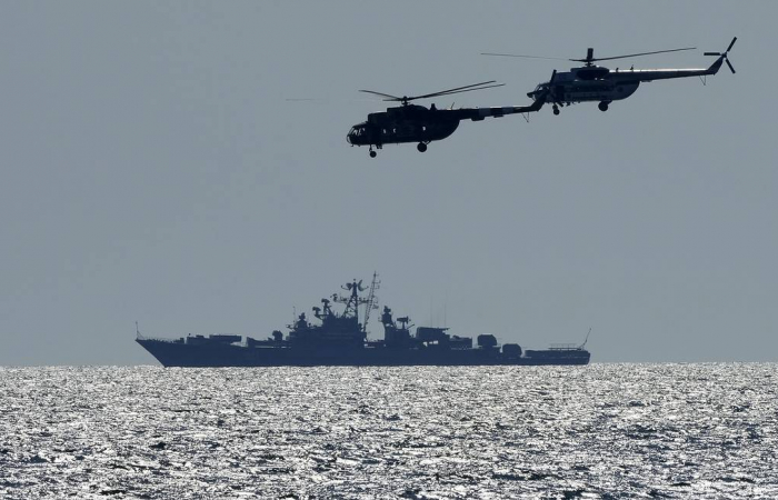 Russia and China hold joint naval drills in the Sea of Japan