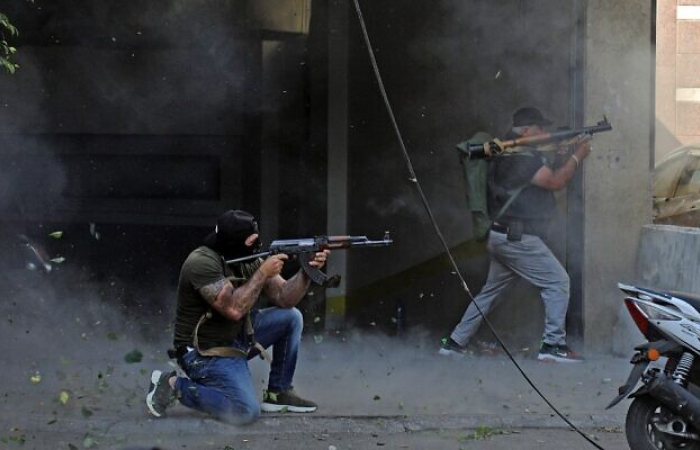 Fears Lebanon is sliding back to civil war after street violence in Beirut on Thursday