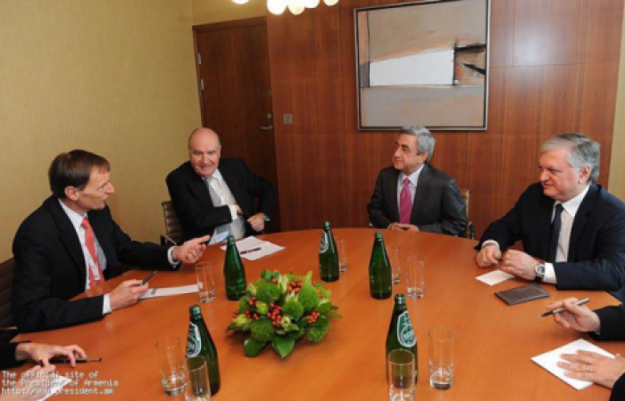 Sargsyan meets Minsk Group co-Chair in Warsaw