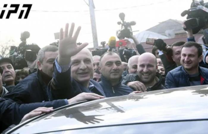Former Georgian prime minister returns to active politics after seven year prison sentence