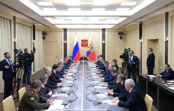 Putin chairs meeting of the Russian National Security Council