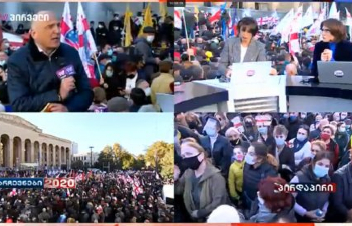 Opposition in Georgia demonstrates against election results