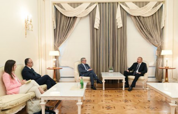 President of NATO Parliamentary Assembly meets Azerbaijan president