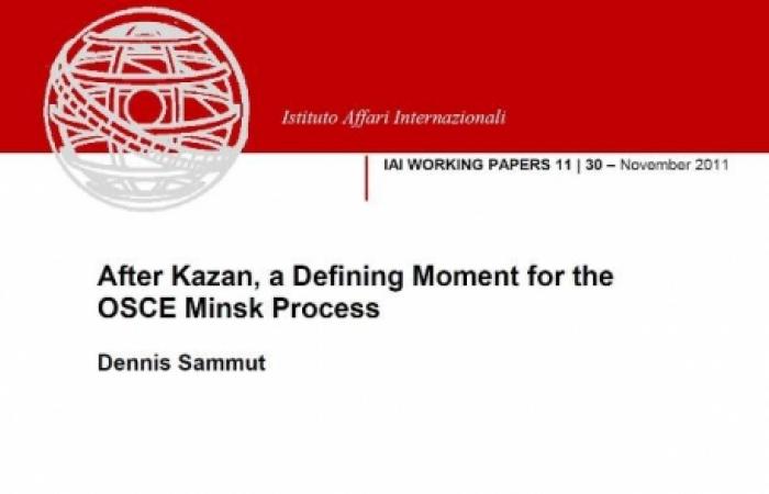 Istituto Affari Internazionali in Rome has published a paper on the future of the OSCE Minsk Process