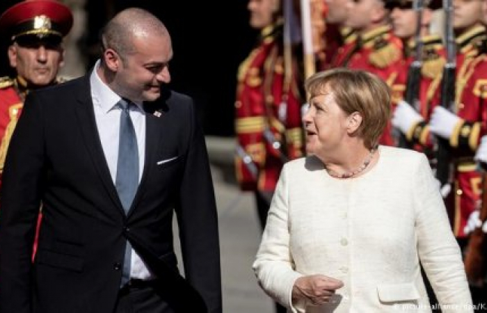 Merkel has reaffirmed her support for Georgia's sovereignty and territorial integrity during Tbilisi visit