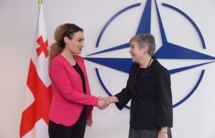 NATO allies reaffirm their support for Georgia