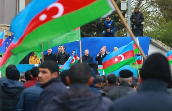 In Baku, opposition calls for cancellation of election results