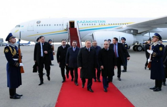 President of Kazakhstan starts official visit to Azerbaijan