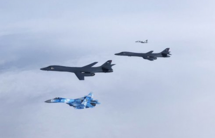 B-1s integrate with Ukrainian and Turkish aircraft for first time in missions over Black Sea